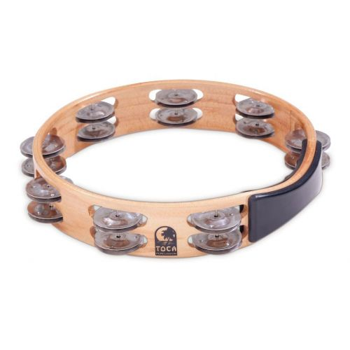 TOCA SINGLE ROW TAMBOURINE 10'' ACACIA WOOD NO HEAD T1010-A