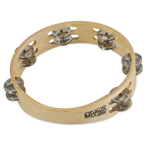 TOCA DOUBLE JINGLE ROW TAMBOURINE WOOD 9'' NO HEAD T1090