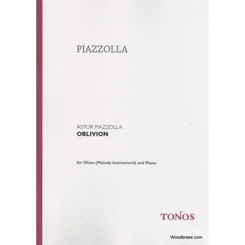 TONOS PIAZZOLLA A. - OBLIVION - HAUTBOIS ET PIANO