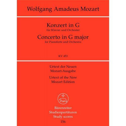 BARENREITER MOZART W.A. - PIANO CONCERTO G MAJOR KV 453 - STUDY SCORE