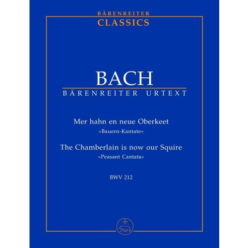 BARENREITER BACH J.S. - MER HAN EN NEUE OBERKEET BWV 212 - CONDUCTEUR POCHE