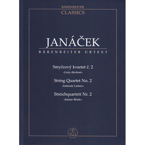 BARENREITER JANACEK - STREICHQUARTETT NR. 2