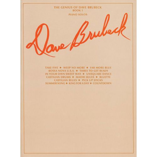 ALFRED PUBLISHING BRUBECK DAVE - GENIUS OF BOOK 1 - PIANO