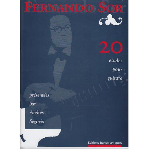 TRANSATLANTIQUES SOR F. - 20 ETUDES - GUITARE