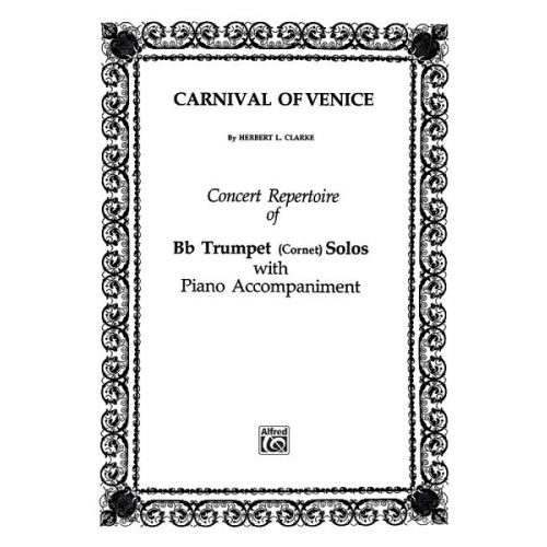 ALFRED PUBLISHING CLARKE HERBERT L. - CARNIVAL OF VENICE VARIATIONS - TRUMPET AND PIANO