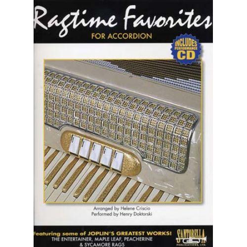SANTORELLA PUBLICATIONS RAGTIME FAVORITES ACCORDION + CD