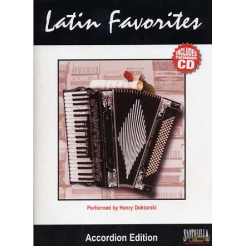 SANTORELLA PUBLICATIONS LATIN FAVORITES ACCORDION + CD