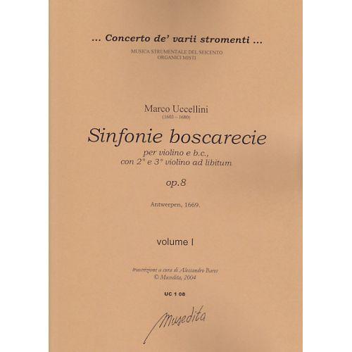 MUSEDITA UCCELLINI M. - SINFONIE BOSCARECIE OP. 8 - VIOLON