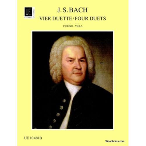 UNIVERSAL EDITION BACH J.S. - 4 DUETTE NACH BWV 802-805 - VIOLON ET ALTO