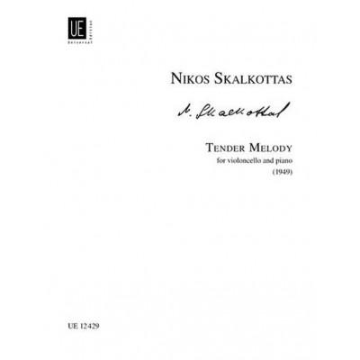 UNIVERSAL EDITION SKALKOTTAS NIKOS - TENDER MELODY A/K 65 - CELLO AND PIANO