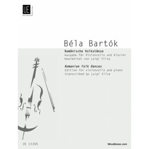 UNIVERSAL EDITION BARTOK BELA - RUMäNISCHE VOLKSTäNZE FüR STREICHORCHESTER - VIOLONCELLE / PIANO