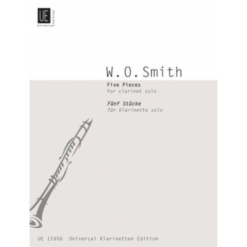 UNIVERSAL EDITION SMITH WILLIAM O. - 5 PIECES - CLARINETTE