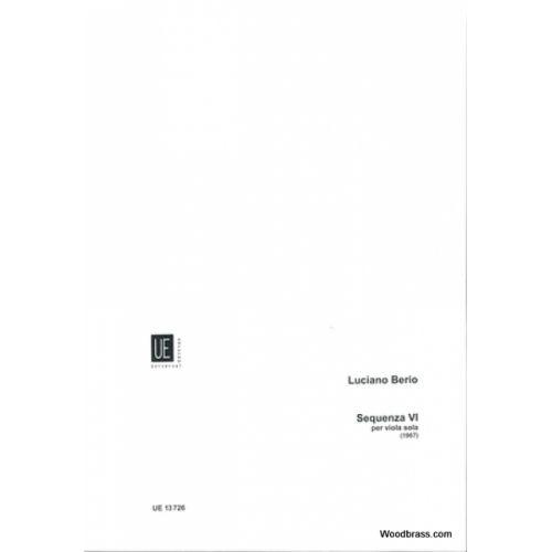 UNIVERSAL EDITION BERIO L. - SEQUENZA VI FÜR VIOLA