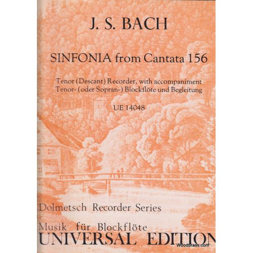 UNIVERSAL EDITION BACH J.S. - SINFONIA FROM CANTATA 156