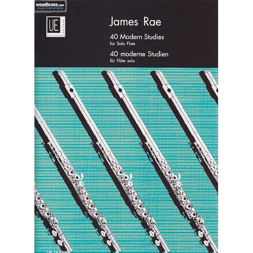 UNIVERSAL EDITION RAE J. - 40 MODERN STUDIES - FLUTE