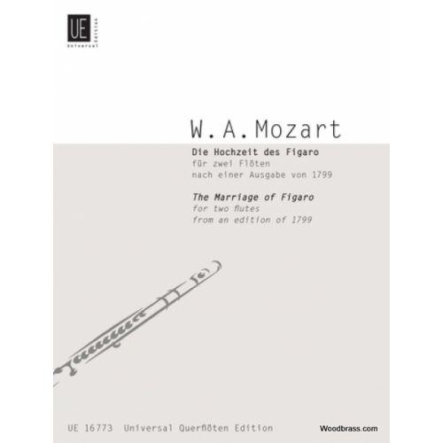 UNIVERSAL EDITION MOZART W. A. - LE NOZZE DI FIGARO - 2 FLUTES