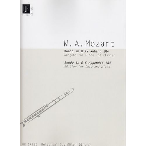 UNIVERSAL EDITION MOZART W.A. - RONDO KV ANH. 184 - FLUTE ET ORCHESTRE