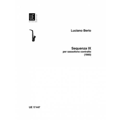 UNIVERSAL EDITION BERIO LUCIANO - SEQUENZA IXB - ALTO SAXOPHONE