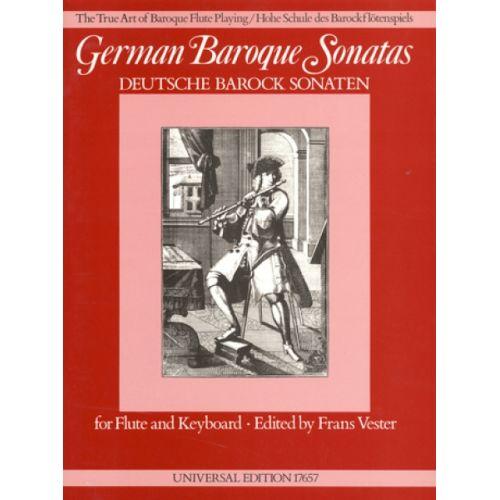UNIVERSAL EDITION DIVERSE - GERMAN BAROQUE SONATAS - FLUTE AND BASSO CONTINUO