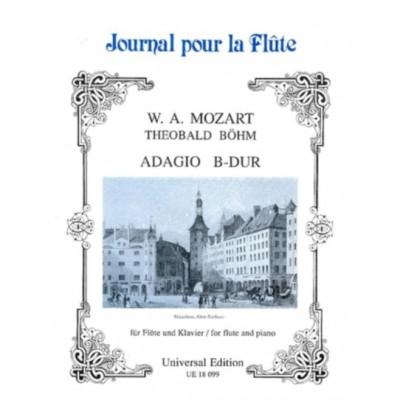 UNIVERSAL EDITION MOZART W.A. - ADAGIO BB MAJ AUS KV 332 BAND 20 - FLUTE AND PIANO