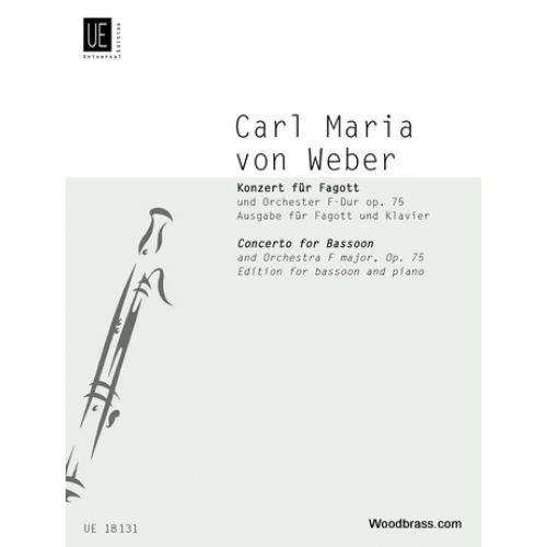 UNIVERSAL EDITION WEBER C.M. (VON) - CONCERTO IN F MAJOR - BASSON ET PIANO