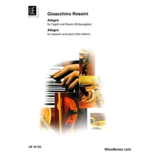 UNIVERSAL EDITION ROSSINI G.A. - ALLEGRO - BASSON ET PIANO