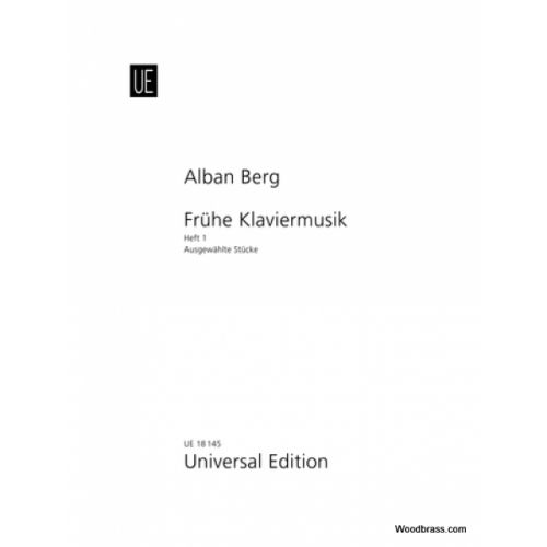 UNIVERSAL EDITION BERG ALBAN - SELECTED PIANO PIECES BAND 1 - PIANO