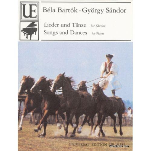 UNIVERSAL EDITION BARTOK B. - SONGS & DANCES - PIANO