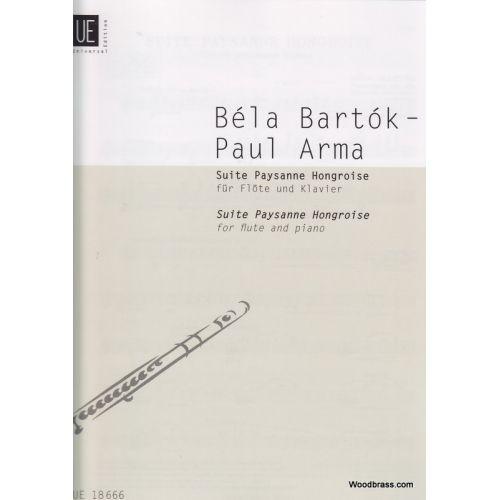 UNIVERSAL EDITION BARTOK B. - SUITE PAYSANNE HONGROISE - FLUTE ET PIANO