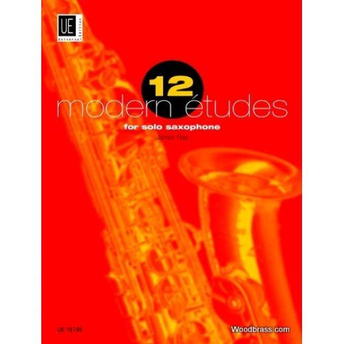 UNIVERSAL EDITION RAE J. - 12 MODERN ETUDES - SAXOPHONE