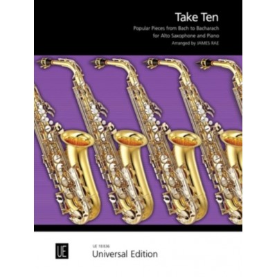 UNIVERSAL EDITION RAE JAMES - TAKE TEN - SAXOPHONE & PIANO