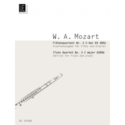 UNIVERSAL EDITION MOZART W.A. - FLUTE QUARTET N°3 C MAJOR KV 285b - FLUTE & PIANO