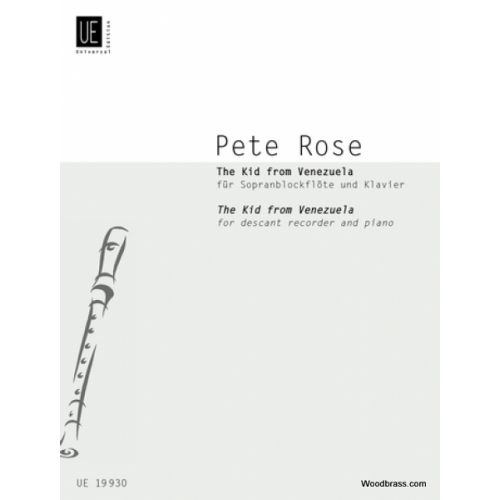 UNIVERSAL EDITION ROSE P. - THE KID FROM VENEZUELA - FLUTE A BEC SOPRANO ET PIANO