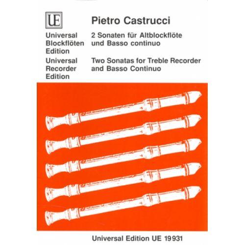 UNIVERSAL EDITION CASTRUCCI P. - 2 SONATEN OP. 1 /5-6 - FLB ALTO ET BC