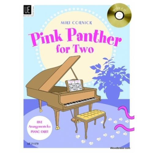 UNIVERSAL EDITION CORNICK M. (ARR.) - PINK PANTHER FOR TWO - PIANO 4 MAINS + CD