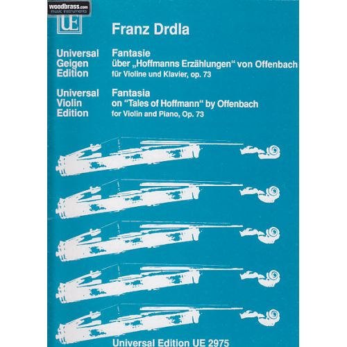 UNIVERSAL EDITION DRDLA FRANTISEK - FANTASIA ON TALES OP73 - VIOLIN AND PIANO