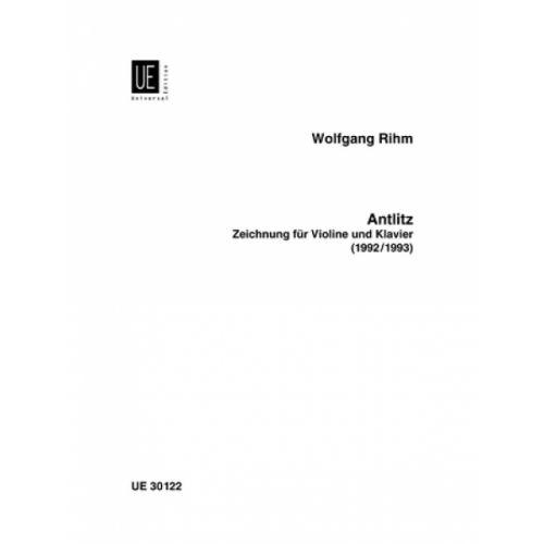UNIVERSAL EDITION RIHM WOLFGANG - ANTLITZ