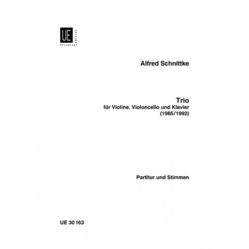 UNIVERSAL EDITION SCHNITTKE ALFRED - TRIO - VIOLIN, CELLO AND PIANO