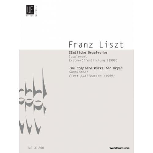 UNIVERSAL EDITION LISZT F. - WEINEN KLAGEN SORGEN PRELUDE - ORGUE