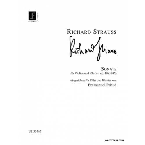 UNIVERSAL EDITION STRAUSS R. - SONATA OP. 18 MIB MAJ. - FLUTE ET Piano