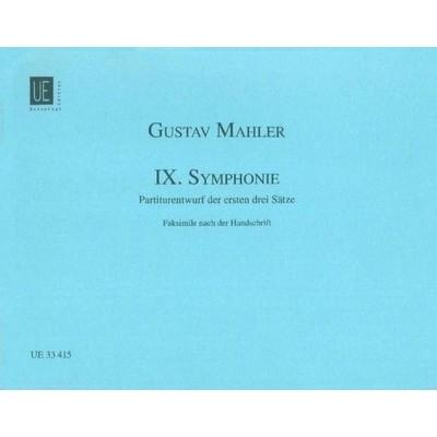 UNIVERSAL EDITION MAHLER GUSTAV - SYMPHONIE N°9 - SCORE FACSIMILE DU MANUSCRIT