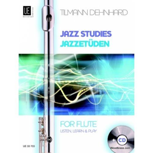 UNIVERSAL EDITION DEHNHARD T. - JAZZ STUDIES - FLUTE + CD