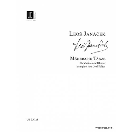 UNIVERSAL EDITION JANACEK L. - MORAVIAN DANCES - VIOLON ET PIANO