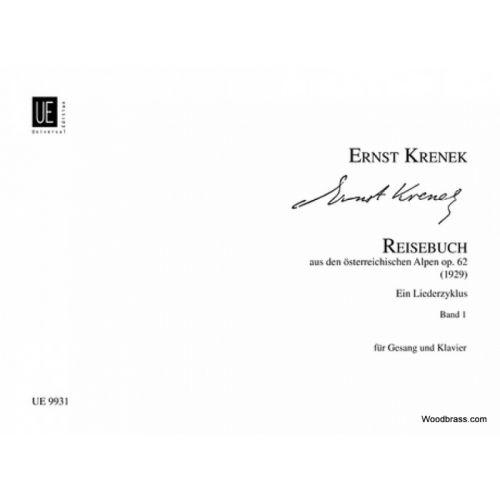 UNIVERSAL EDITION KRENEK ERNST - REISEBUCH AUS DEN OSTERREICHISCHEN ALPEN VOL.1