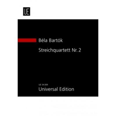 UNIVERSAL EDITION BARTOK BELA - STRING QUARTET N°2 OP.17 - STUDY SCORE