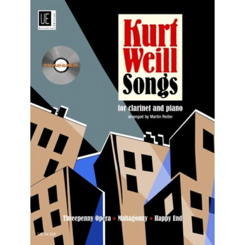UNIVERSAL EDITION WEILL KURT - SONGS WITH CD - CLARINETTE ET PIANO