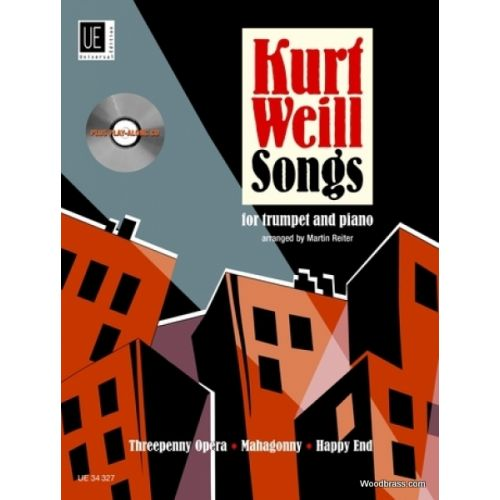 UNIVERSAL EDITION WEILL K. - SONGS WITH CD - TROMPETTE ET PIANO
