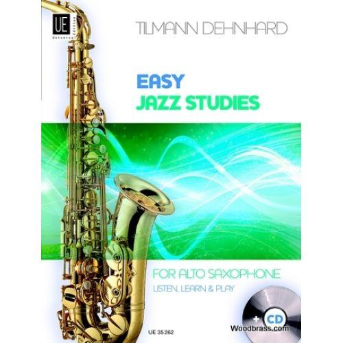 UNIVERSAL EDITION DEHNHARD T. - EASY JAZZ STUDIES + CD - SAXOPHONE ALTO