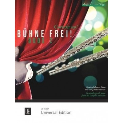 UNIVERSAL EDITION CURTAIN UP! - BUHNE FREI! - DUOS 2 - 2 FLUTES