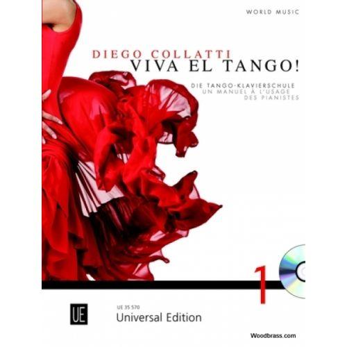 UNIVERSAL EDITION COLLATTI DIEGO - VIVA EL TANGO ! + CD - PIANO